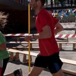 Br. Rene Dorer beim Laufen
