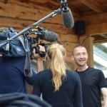 Br. Rene Dorer von einem ORF Team interviewt beim Pitztal Bungy