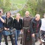 Br. Rene Dorer mit einem ORF Team (Georgia Guillaume) und Kamerateam von Br Rene